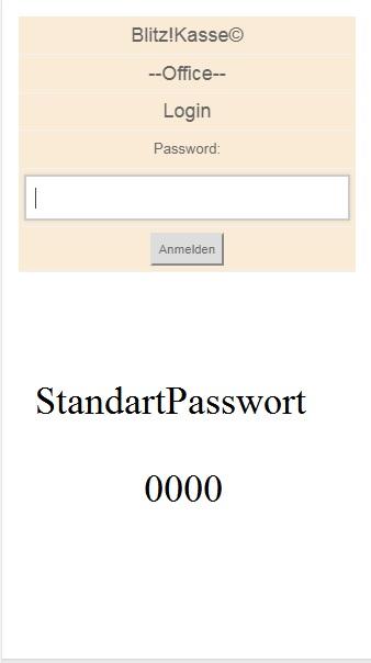 Blitz!Kasse Mobile Office  ist über Internet (DYNDNS) oder Intranet zugänglich  über Port 8001