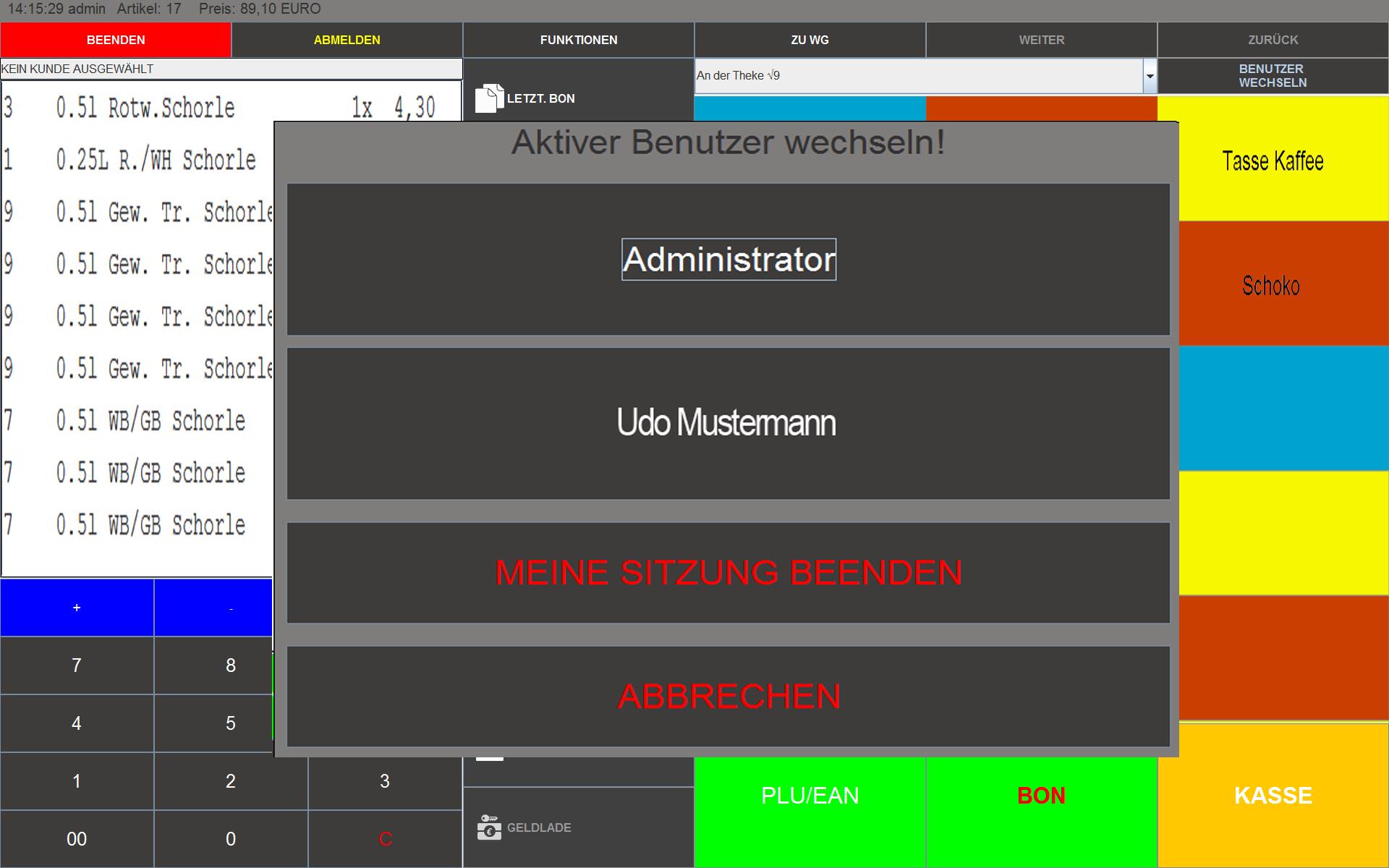 Schnelle Benutzerwechsel mit BlitzKasse Handel J(ot) Image copyright (c) 2019.