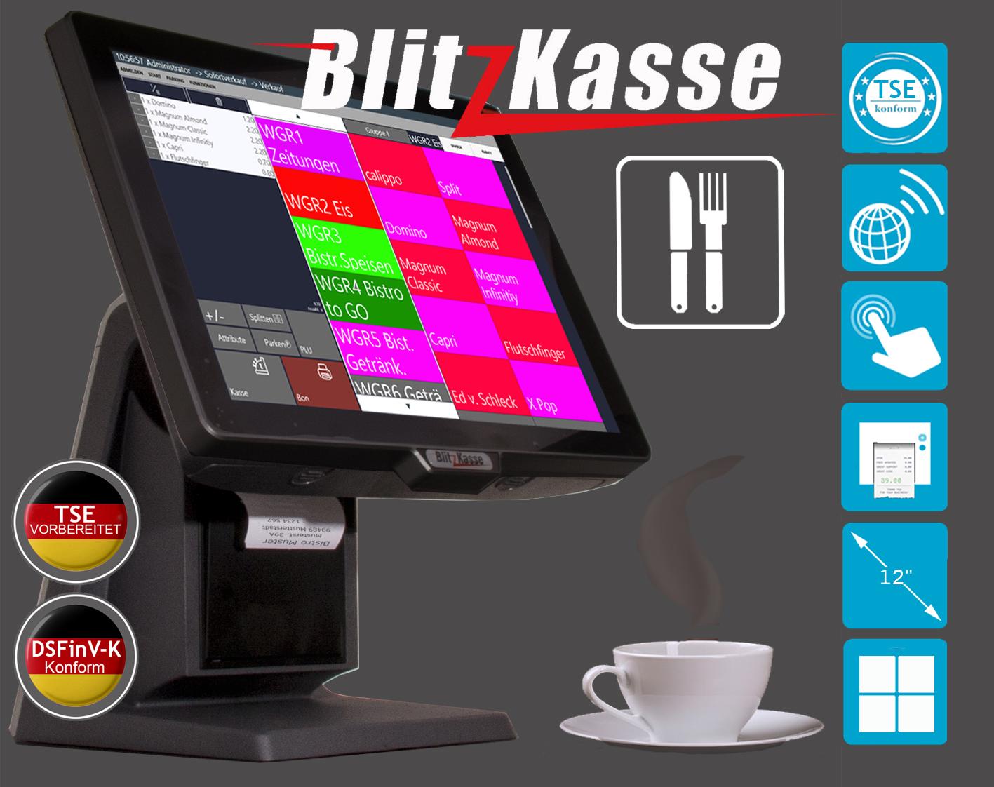 TSE 2020 Konforme Kassensysteme / Blitzkasse TSE