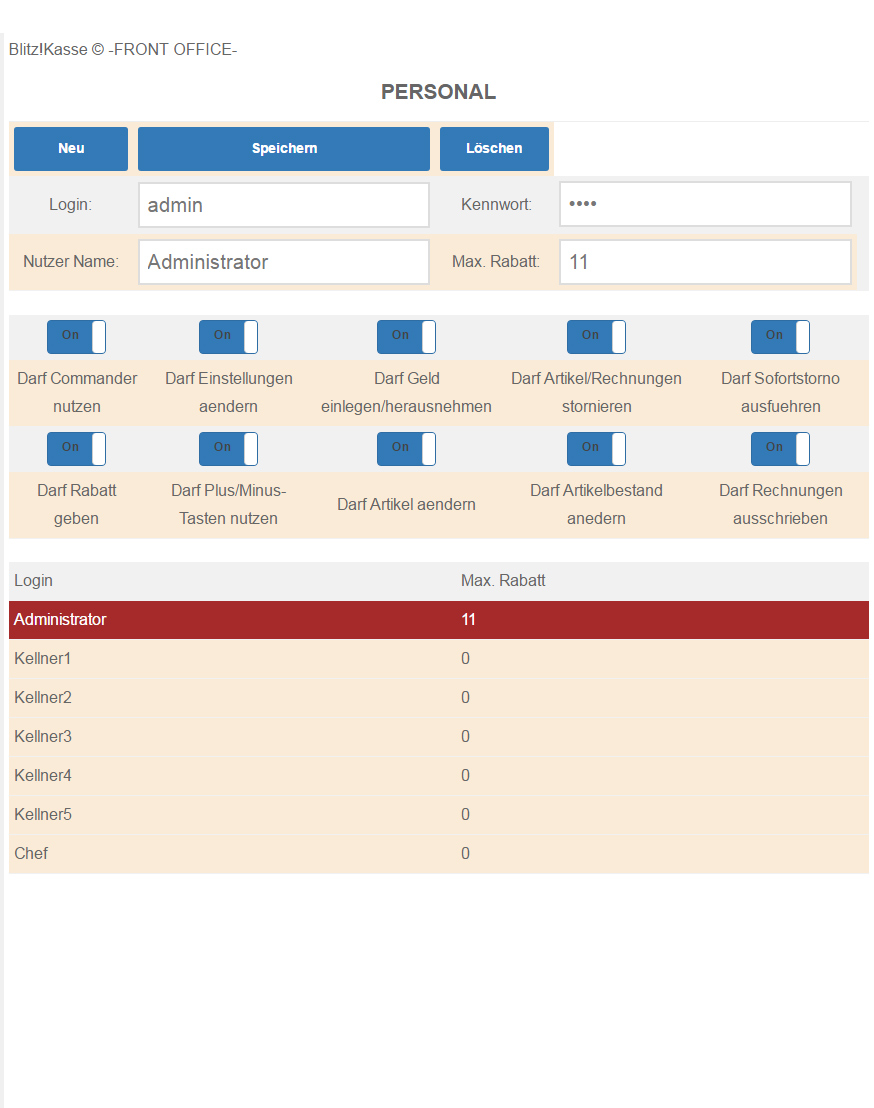 Blitzkasse, Blitz!Kasse Handel, INSIKA Vorbereitet, INSIKA 2020,  Kassensystem, Kassensystem mit Touchscreen, Bondrucker, Kassenlade, Geldlade, Kundendisplay,Kundenanzeige, Bonrollen, Tablet-PC, Tabletkasse, Handscanner,blitzkasse.de, Kassensystem auf Tablet, GoBD konform, GDPdU